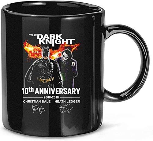 N\A The Dark Night 10th Anniversary 2008-2018 Christian-Bale Heath-Ledger Firmado Regalo de cerámica Tazas Divertidas Tazas