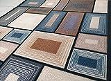 BuyElegant Tapis Super antidérapant Super Absorbant 100% Polyester et Dos en Latex respectueux de l'environnement Facile à Nettoyer 120 x 80 cm, Polyester, Blocks Grey, 120 x 80 cms