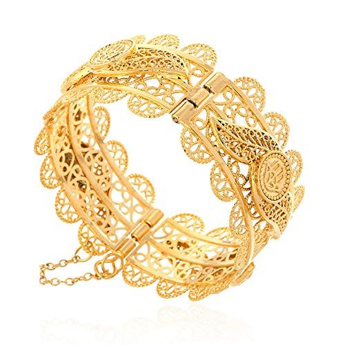 Große Hexagramm Hamsa Armreif Für Frauen Breiten Armband Gold Farbe Arabische Hamsa Hand Armreif Schmuck Mittlerer Osten