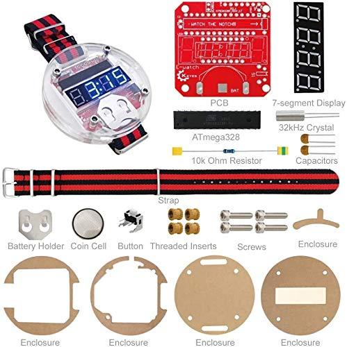 KASILU DIAN317 DIY Relojes electrónicos de Dispositivo portátil ATMEGA328 Relojes programables para...