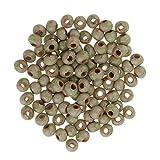 perfk Lot de 100 Pcs Perles Céramiques en Vrac Rond Lâches DIY Fabrication De Bijouterie - 6#