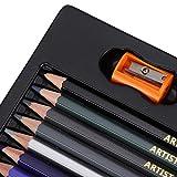 Lápices de colores, lápices de colores de núcleo blando, juego de lápices de colores de núcleo blando de diseño hexagonal, para niños y adultos