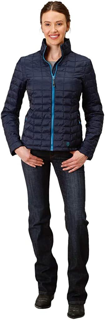 Roper Western Jacket Womens Quilted Parachute 03-098-0693-6115 BU