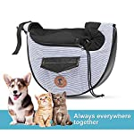 Zuukoo Pet Carrier, Dog Sling Bag Puppy Hands-free Sling Travel Carrier Bag with Adjustable Strap For Small Pets Perfect for Walking, Traveling or Daily Use 10