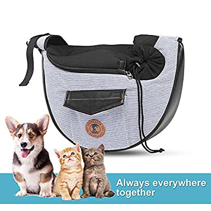 Zuukoo Pet Carrier, Dog Sling Bag Puppy Hands-free Sling Travel Carrier Bag with Adjustable Strap For Small Pets Perfect for Walking, Traveling or Daily Use 3