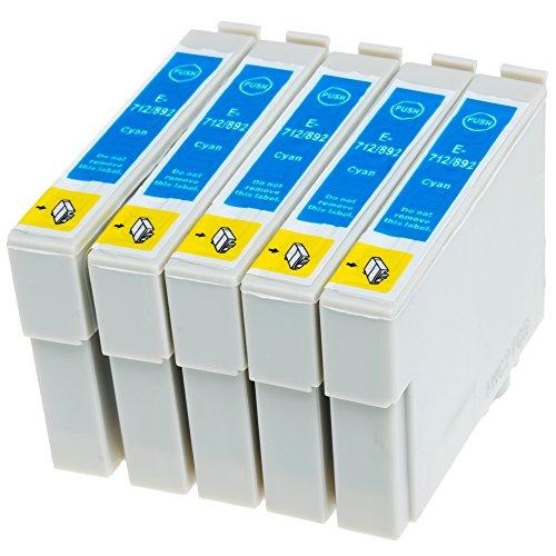 AfiD 5er Set Druckerpatronen zu EPSON T0712 Stylus SX-405, SX-410, SX-415, SX-417, SX-510, SX-515, SX-600 und mehr!