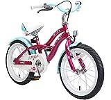 Bikestar Vélo enfant pour garcons et filles de 4-5 ans ★ Bicyclette enfant 16 pouces cruiser avec freins ★ Violet