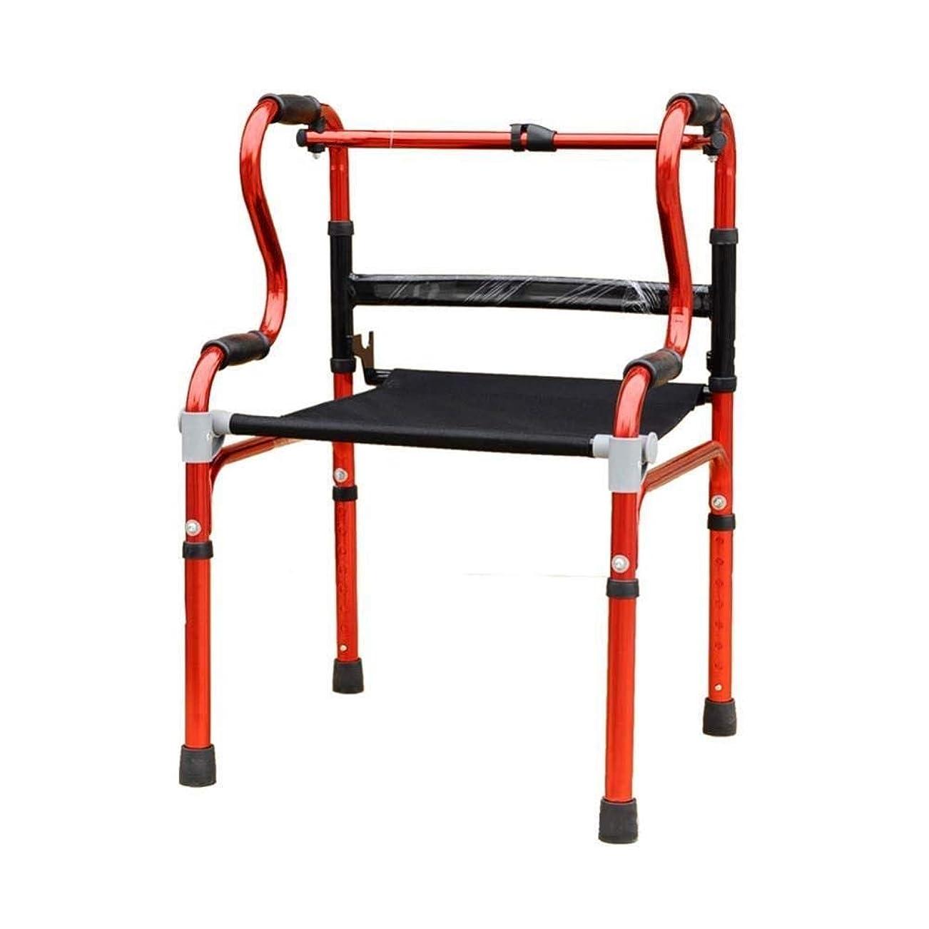 避難目指す曲軽量ウォーカー、パッド入りシートとバッグコンパクト折りたたみデザイン高齢者ウォーカー付きアルミニウムローラー