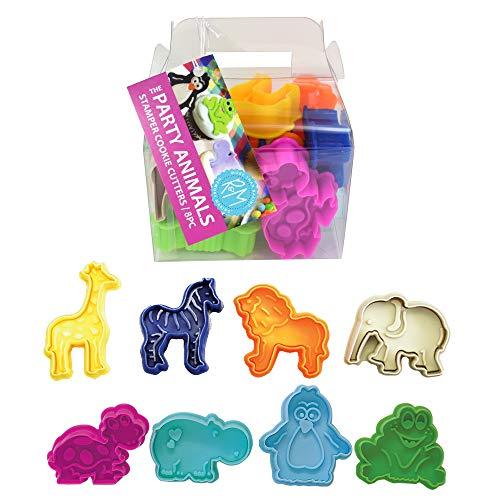 R&M International Party Animals, Set of 8 Stamper Set, Standard 2' (8-Piece, Silver