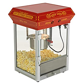Funtime FT421 CR Antique and Carnival Styled 4 Ounces Hot Oil Popcorn Maker, Red