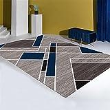 Patrón de combinación de celosía geométrica Gris y Azul Manta...