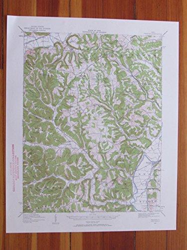 Piketon Ohio 1959 Original Vintage USGS Topo Map