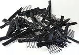 Meisi Hair 10/20/30/pezzi parrucca pettini 7denti stretti con Wrap Lace Cap clip per par...