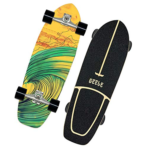 VOMI Cruiser Skateboard Brandneues Skating Board Retro Komplette Skate Decks Klassische Old School Skateboards für Anfänger, 31 Zoll, Single Kick Tails, Mini Surfskate Komplettboard