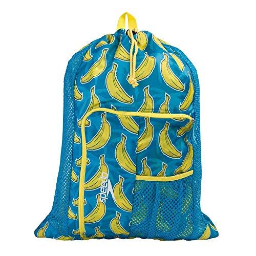 Speedo Bolsa Deluxe Ventilator Mesh Mochila de Malla, Unisex, Azul/Amarillo, Talla única