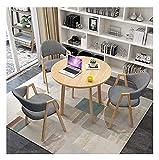 Mesa de ocio mesa mesa de comedor para cocina o decoración del hotel, mesa de ocio y silla combinación de oficina recepción mesa redonda sala de estar mesa de comedor estilo simple diseño moderno 1 me