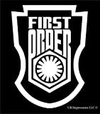 UR Impressions First Order Stormtrooper Badge Decal Vinyl Sticker Graphics for Cars Trucks SUV Vans Walls Windows Laptop|White|5.5 X 4.4 Inch|URI283