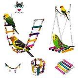 AnnaEye Pet Bird Parrot Parakeet Budgie Cockatiel Cage Hammock Swing...