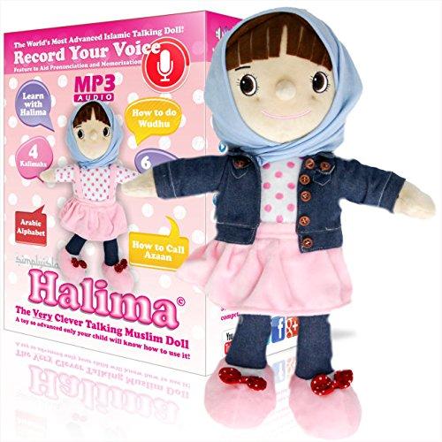 Sprechende Puppe von Halima®Die weltweit fortschrittlichste, muslimische Puppe, limitierte Ausgabe,5x mehr Inhalt als andere islamische Puppen wie Aamina-, Amina- oder Desi-Puppen