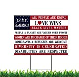 Debbie's Designs 2 Sided! in My America All People are Created Equal Love Wins 18x24-inch ...