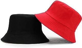 Gorro pescador Sombreros de sol Unisex para Mujer, Sombrero de cubo de Doble cara para Hombres, sombreros de Panamá de Col...
