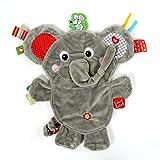 Vital Innovations LL-FR14068 Label-Label Schmusetuch Elefant, grau