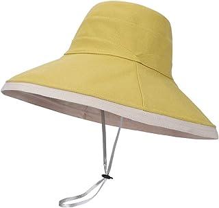 LACOFIA Sombreros de Sol para Mujer de ala Ancha Gorra de Playa para Mujer Viseras de Verano Plegables para Exteriores con...
