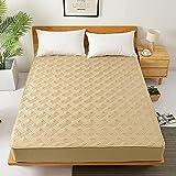 NHhuai Protector de colchón/Cubre colchón Acolchado, Ajustable y antiácaros. Colcha Antideslizante de algodón Puro de una Pieza