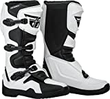 FLY Racing Maverik Boots for Motocross, Off-road, and ATV riding (SZ 07,WHITE/BLACK)