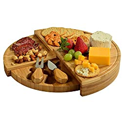 picnic at ascot bamboo spiral charcuterie board for sale
