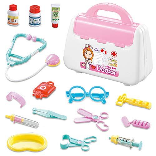 LYing Kit médico para niños Juguete para la casa de Juegos del Doctor, Kit médico portátil Juguete de Aguja para Estetoscopio