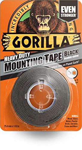 Gorilla Heavy Duty Mounting Tape Black 25.4mm x 1.5