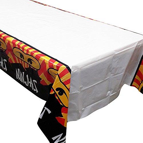 Ninja Master Tischdecken (2), ideal für Ninja-, Ninjago- und andere Kampfsport-Geburtstagsfeiern.