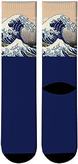 30d1e853d635d New 3D Printed Harajuku Japanese Ukiyoe Wave Crew Socks Men Japanese Spray  Whale Long Socks Paint