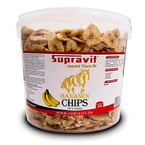 Supravit Bananenchips 2kg - Leckerlis für Pferde - die gesunde Belohnung - appetitanregend als Ergänzung im Pferdefutter