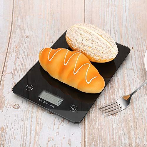 Oumefar Báscula electrónica portátil de Peso Digital para Alimentos, Mini báscula electrónica automática de Alta precisión, Restaurante para cafés de Cocina en casa