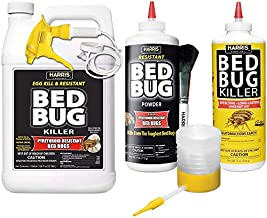 HARRIS Bed Bug Killer Value Bundle Kit - Diatomaceous Earth Powder, Toughest Bed Bug Powder, Toughest Gallon Spray and Powder Duster