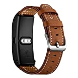 AISPORTS 18mm Quick Release Leather Watch Band for Huawei Watch, Huawei Talkband B5, Withings Activite, Fossil, LG, Asus, Nokia Smart Watch Replacement Band Women Men Wrist Band Bracelet Wristband