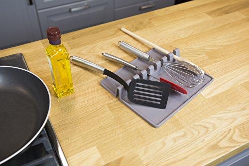 Tomorrow`s Kitchen 46713606 Küchenutensil Ablage, Silikon, Grau, XL