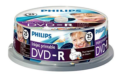 Philips DVD-R 4.7 GB Printable - Confezione da 25
