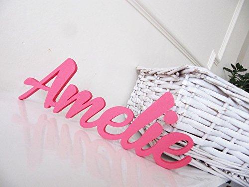 Amelie, Letreros personalizados para Niños o Niñas,Letreros,Decoracciónes para Dormitorios,Letreros para el Cuarto de los Niños,Mia Studio,Póngase en contacto con el vendedor a través de Amazon mensaje para proporcionar el nombre y el color