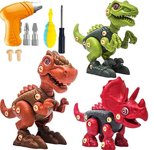 WeYingLe Take Apart Dinosaur Toys for Kids Dino Building Toy Set with...