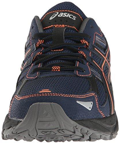 ASICS Men's Gel-Venture 5 Trail Runner, Indigo Blue/Hot Orange/Black, 10.5 M US Alaska