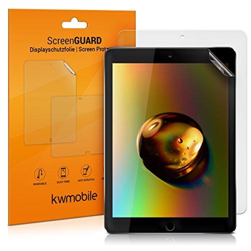 kwmobile 2X Schutzfolie kompatibel mit Apple iPad 9.7 (2017/2018) - Folie entspiegelt Full Screen Tablet