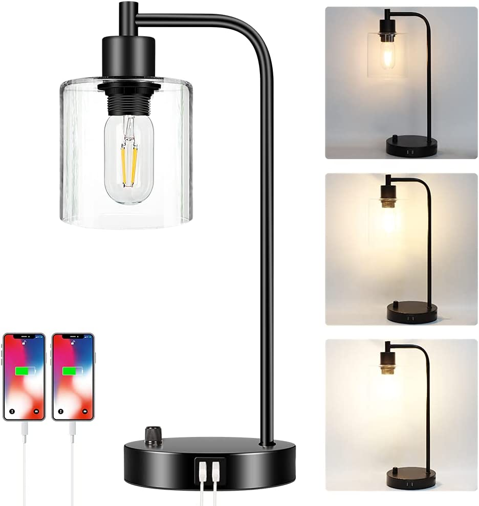 Ranking TOP7 Industrial Table Lamp with 2 USB M Port Stepless Gifts Fully Dimmable
