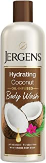 Jergens Hydrating Coconut Body Wash, Daily Moisturizing Skin Cleanser, Paraben Free, 22 Ounces, Infused with Coconut Oil, ...