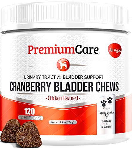 Cranberry For Dogs - Cranberry Pills For Dogs Bladder Support No More Dog Antibiotics - Dog UTI Treatment Food - Bladder Infection Relief Urinary Tract Health UT Incontinence, Immune System D Mannose
