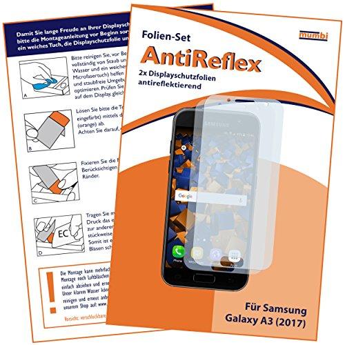mumbi Schutzfolie kompatibel mit Samsung Galaxy A3 2017 Folie matt, Bildschirmschutzfolie (2X)