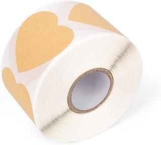 Lavagna Adesiva Multifunzione Kraft Sigilla Etichette Regalo per Buste Scatole Etichette di Carta Kraft 500PCS Carta Kraft Etichette Adesive Lavagna per Barattoli Vetro Etichette Lavagna Adesivo