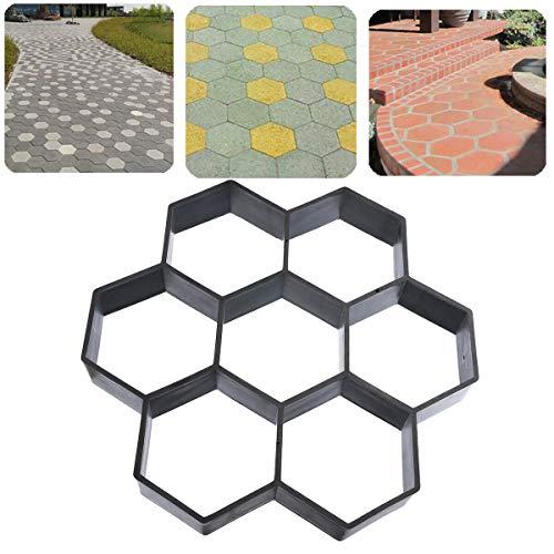 Scelet DIY Garten Hexagon Form Walk Maker Beton Trittstein Form Wiederverwendbare Patio Pfad Formenbauer Rasen Pflasterstein Form 11,53 X 11,53 X 1,77